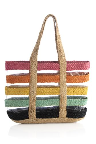 Effie Rainbow Stripe Tote Bag MULTI