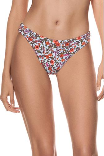 Bloom With Grace Sublimity Hipster Bikini Bottom BLUE MULTI -