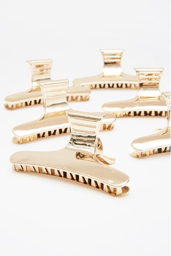 Butterfly Clamp Clips Six Pack GOLD