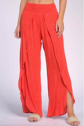 Red Wrap Pant RED
