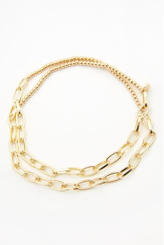 Mixed Chain Wrap Bracelet GOLD