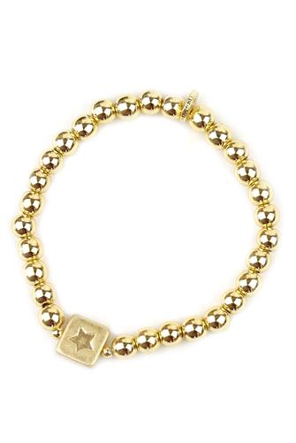 Star Charm Ball Bracelet GOLD