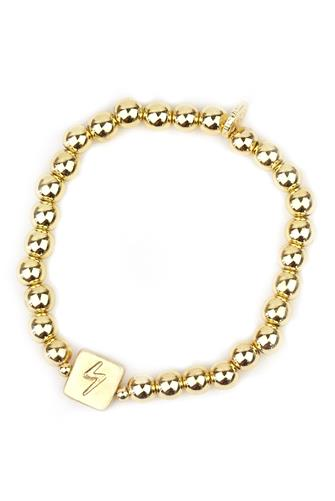 Lightning Bolt Ball Bracelet GOLD