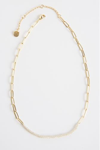 Champagne Bead Chain Necklace GOLD