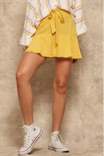 Yellow Tie Flirty Skirt YELLOW
