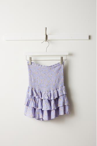 Ditsy Floral Smocked Ruffle Skirt LILAC