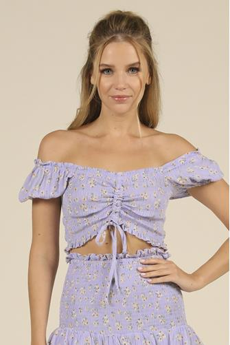 Lilac Ditsy Floral Top LILAC
