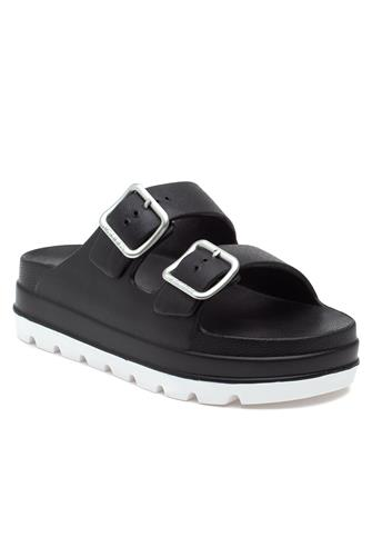 Black Simply Slide Sandal BLACK