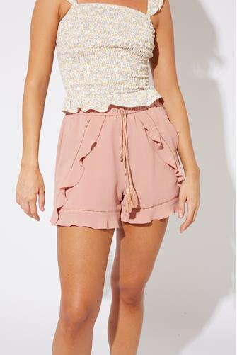 Rose Ruffle Lattice Short ROSE