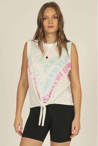 Tie Dye Muscle Tank Top MULTI