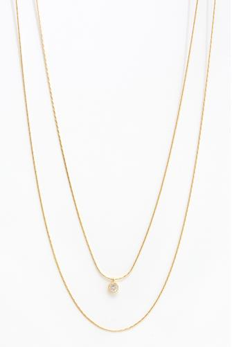 Simple Double Layer Necklace GOLD