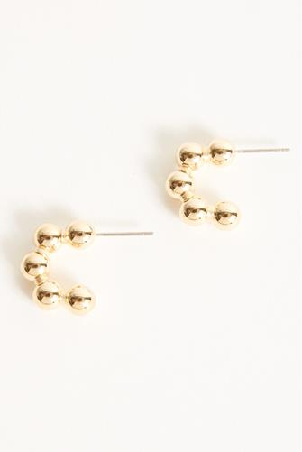 Small Ball Hoop Earrings GOLD