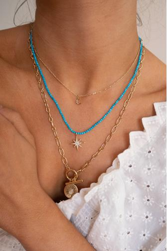 Sicily Necklace TURQUOISE