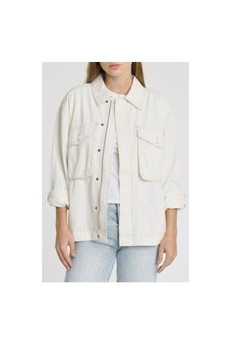 Allegra Pocket Front Jacket IVORY