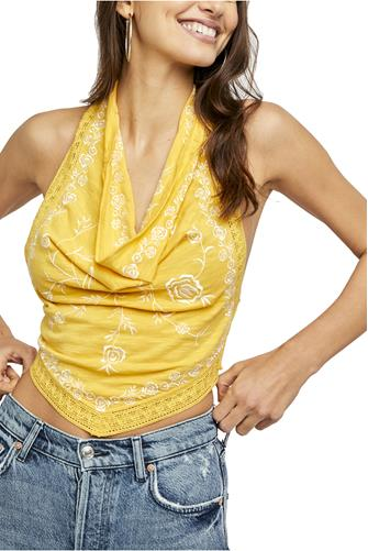 How's It Going Halter Top YELLOW