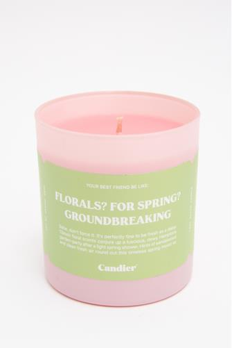 Spring Florals Candle 9 oz. GREEN