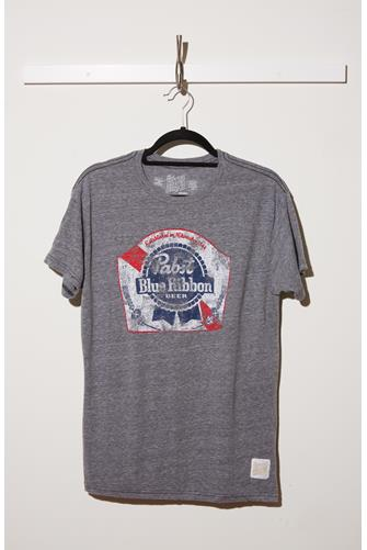 Pabst Blue Ribbon Graphic Tee GREY