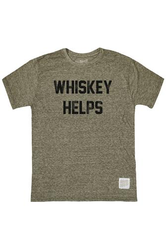 Whiskey Helps Graphic Tee GREEN