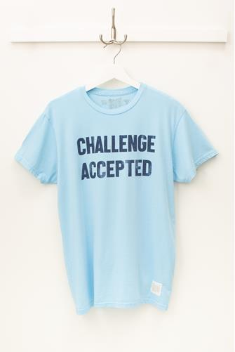 Challenge Accepted Graphic Tee BLUE