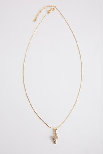 Lightning Salty Pendant Necklace GOLD