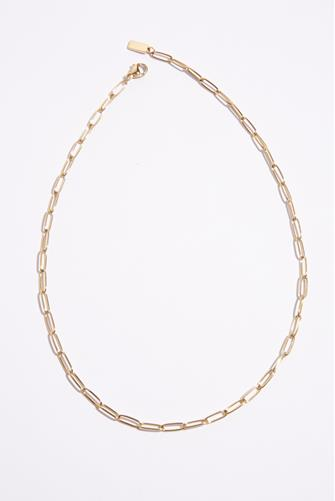 Paperclip Chain Link Choker Necklace GOLD