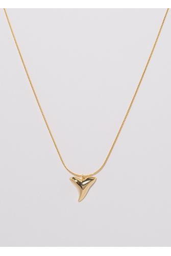 Gold Shark Tooth Necklace GOLD