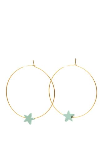 Stella Turquoise Star Earrings GOLD