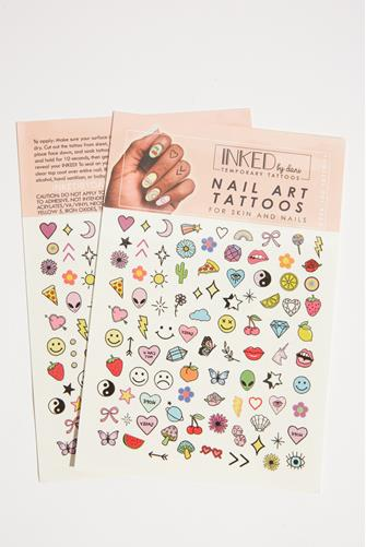 Colored Nail Art Tattoos MULTI