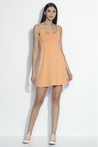 A-Line Open Back Dress ORANGE