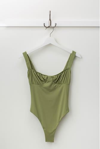 Ruched Cup Sage One Piece Swimsuit SAGE