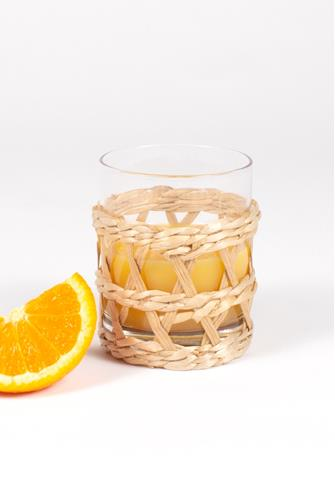 Straw Wrapped Glass NATURAL