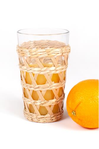 Straw Wrapped Tumbler Glass NATURAL
