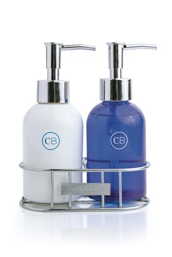 Volcano Hand Wash & Lotion Caddy BLUE