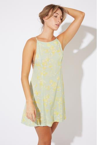 In Control Mini Slip Dress MINT GREEN