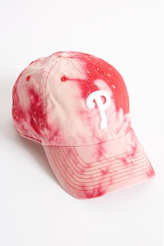 Philadelphia Phillies Tie Dye Baseball Hat RED
