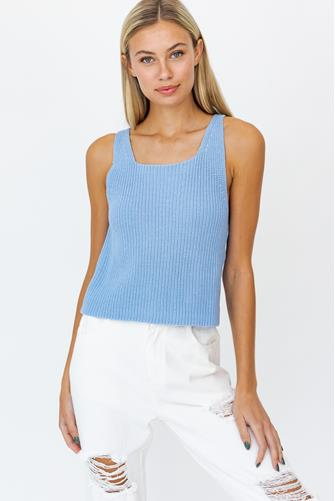 Sweater Tank Top BLUE
