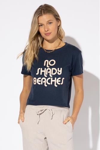 No Shady Beaches Dylan Tee NAVY