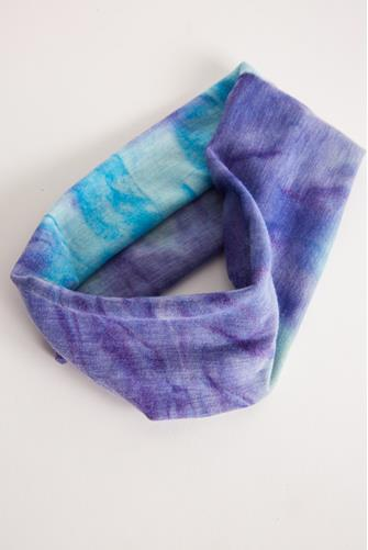 Blue Tie Dye Athletic Headband BLUE