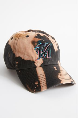 Miami Marlins Tie Dye Baseball Hat BLACK