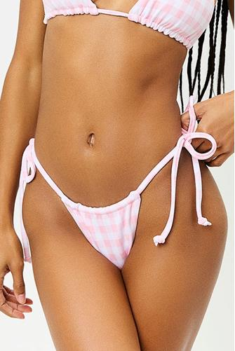Pink Picnic Tia String Bikini Bottom PINK MULTI -