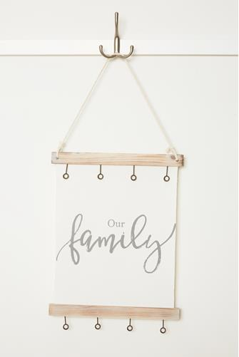 Our Family Canvas Clip Picture Frame WHITE