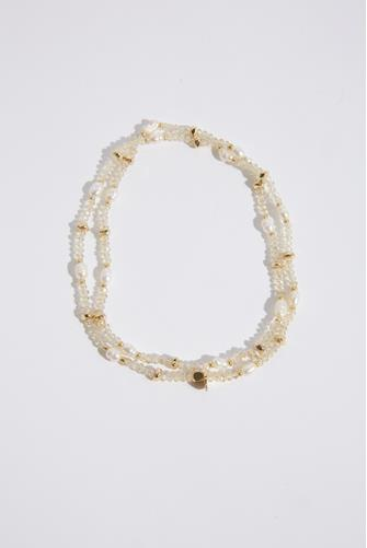 Mixed Champagne Beaded Bracelet CHAMPAGNE