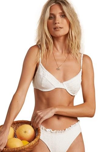 Billabong x The Salty Blonde The Seashore Underwire Bikini Top WHITE