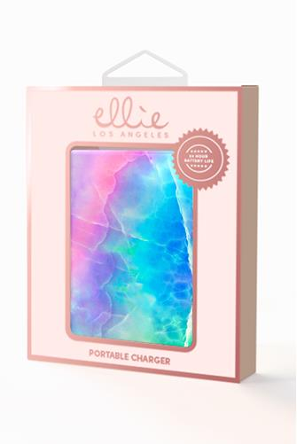 Rainbow Marble Portable Charger MULTI