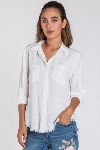 Riley Button Down Shirt WHITE