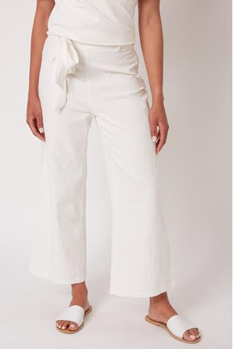 Ian Textured Pant WHITE