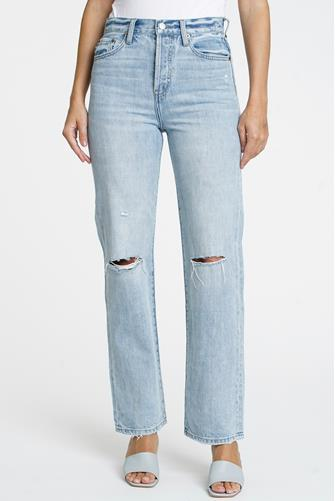 Cassie Super Hi Rise Straight Leg Jean in By My Side LIGHT DENIM -