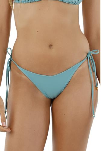 Beryl Green Dolly Tie Side Bikini Bottom GREEN