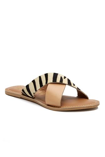 Zebra Cross Slide Sandal MULTI