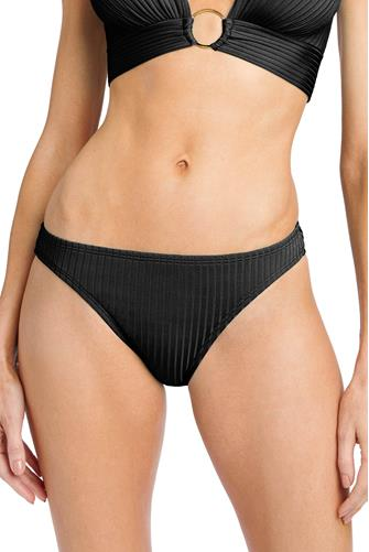 Black Yasmine Hipster Bikini Bottom BLACK